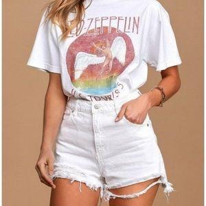 Vintage   high waist white denim cutoff shorts